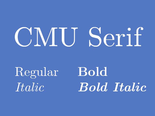 CMU-Serif
