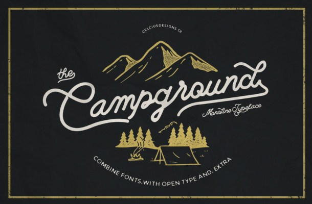 Campground Monoline Script Font Free