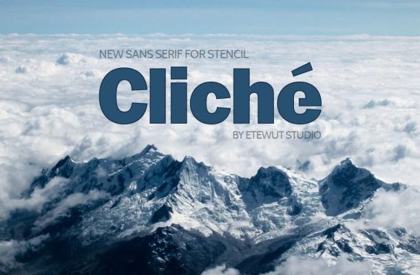 Cliche Free Sans Serif Font