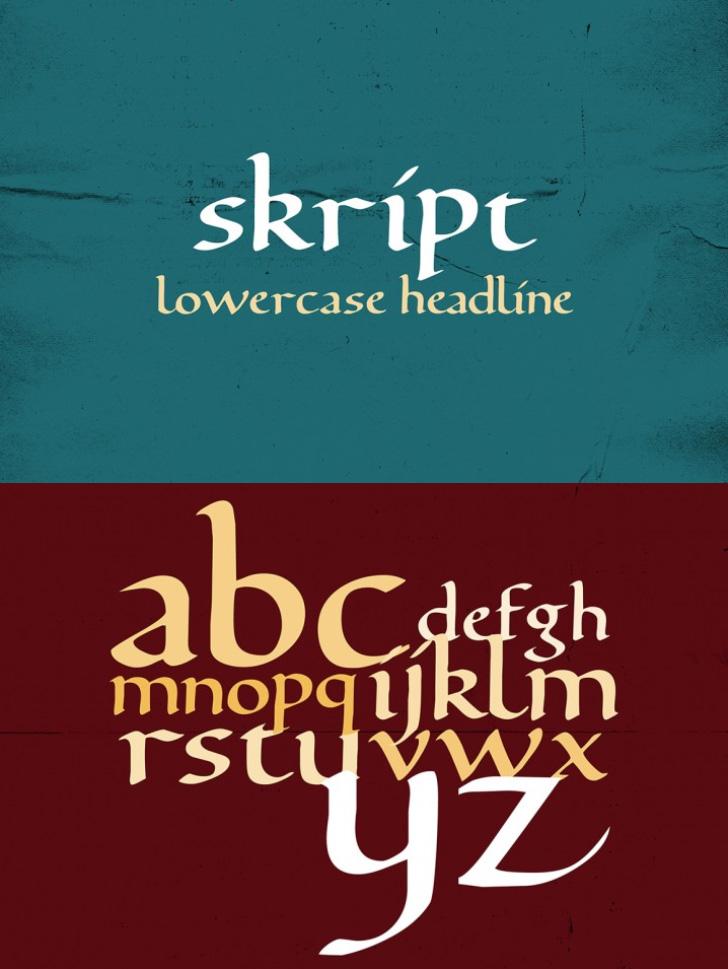 FREE Skript Font by TheHungryJPEG