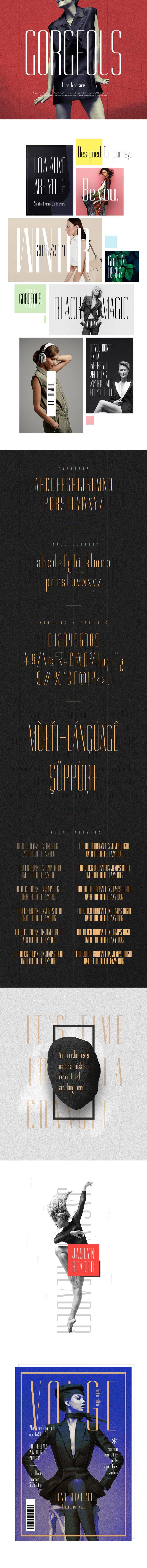 Gorgeous - Free typeface