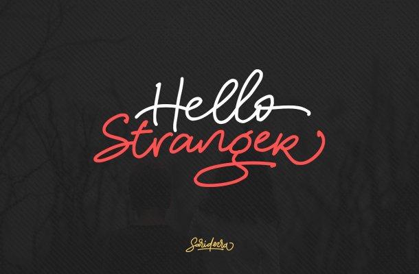 Hello Stranger Free Script Font