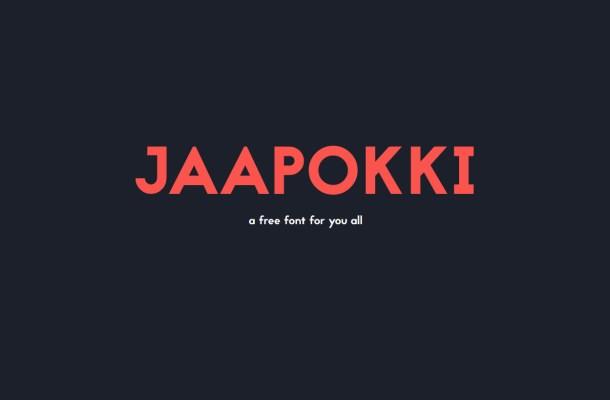 Jaapokki – Free Sans Serif Font