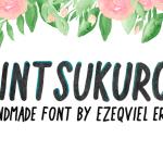 Kintsukuroi Free Handmade Font