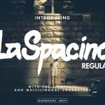 LaSpacino Free Handmade Typeface