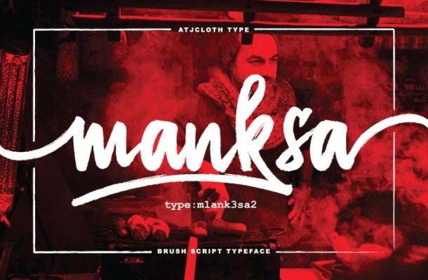Manksa Free Brush Script Typeface