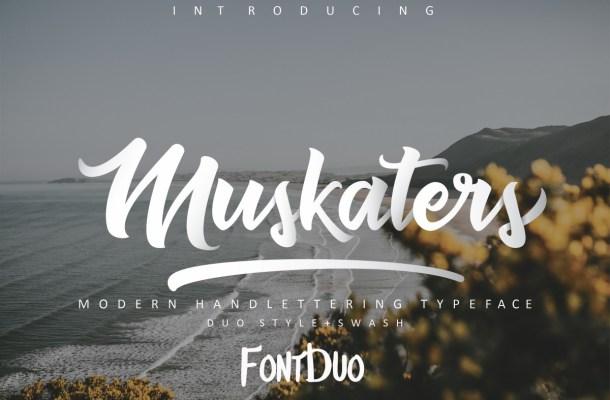 Muskaters Free Handwritten Font