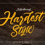 Hardest Free Script Font