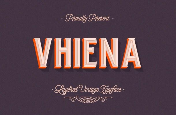 Vhiena Layer Free Font