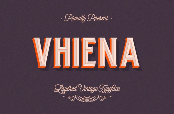 Vhiena Layer Free Font