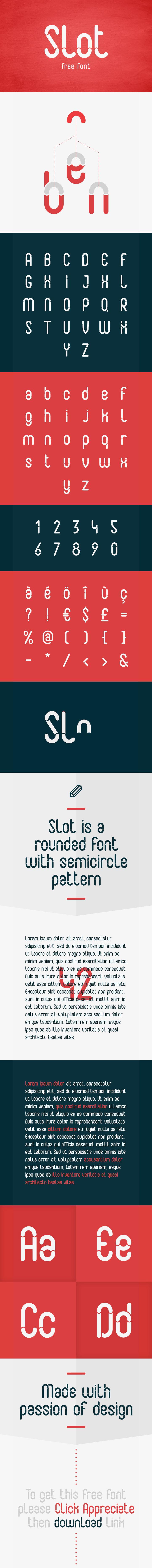 Slot font free