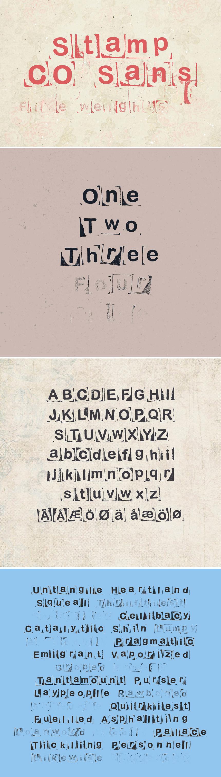 Stamp CO Sans - Free Font