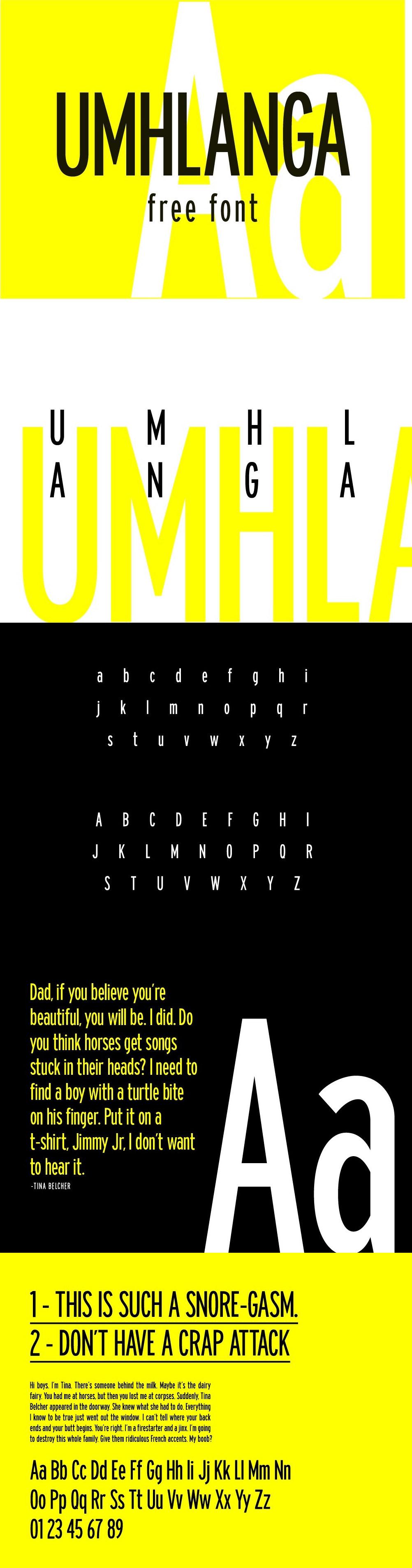 Umhlanga Free Sans Font - Free Fonts