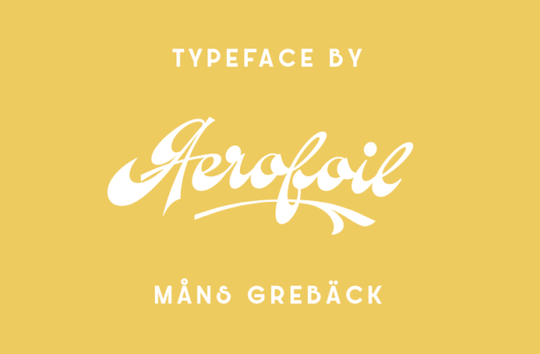 Aerofoil Free Calligraphy Font