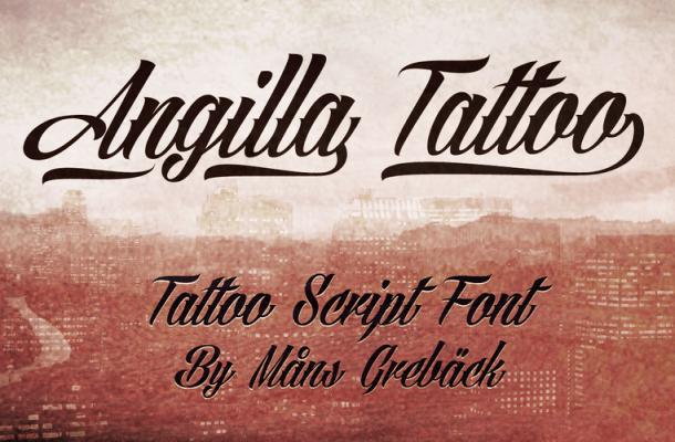 Angilla Tattoo Free Font