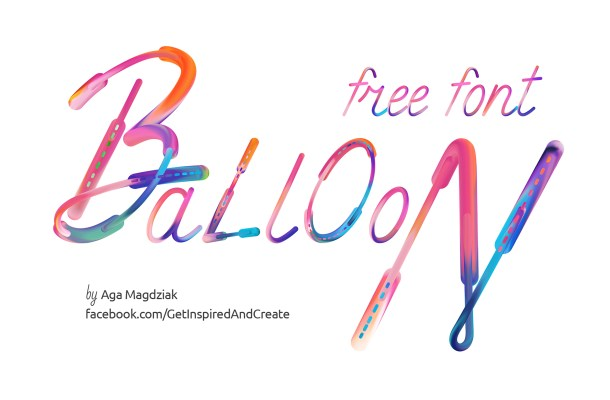 Balloon Font + Bonus Patterns