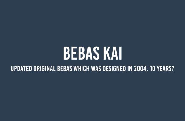 Bebas Kai Font Free