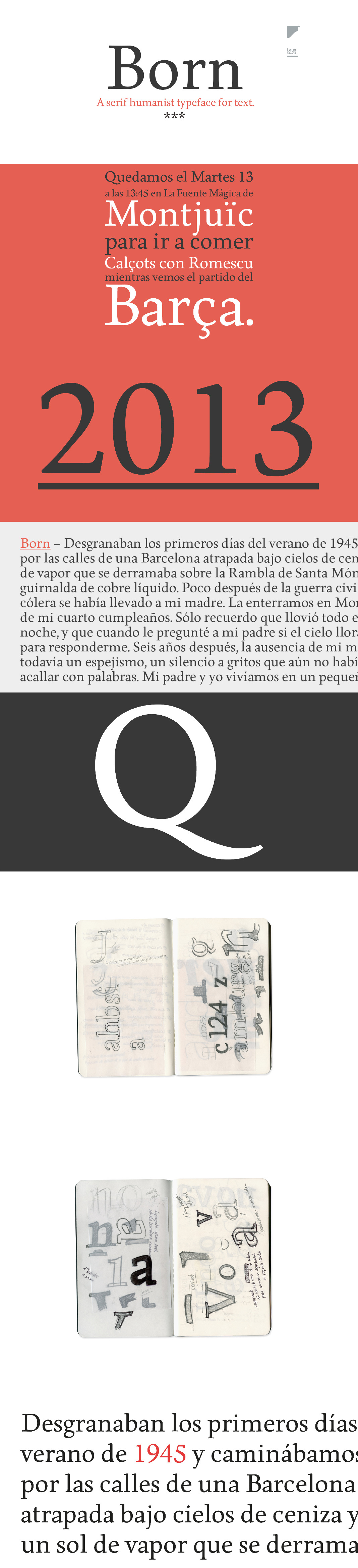 born free typeface