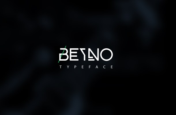Beyno Free Uppercase Font