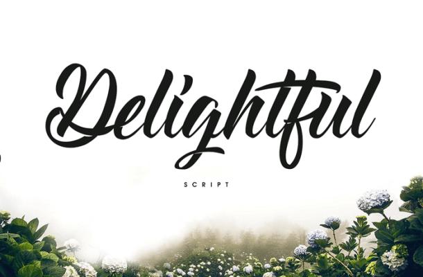 Delightful Script Font Free