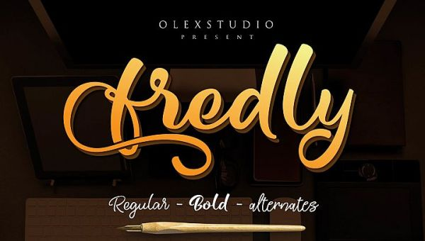 Fredly Free Modern Typeface