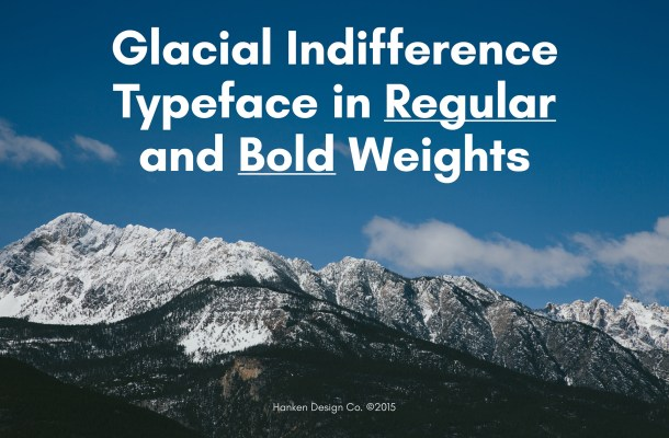 Glacial Indifference Font Family