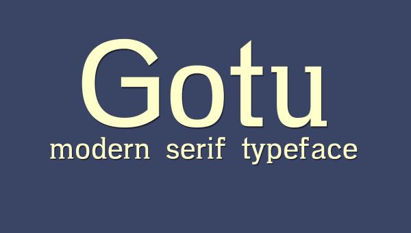 Gotu Free Serif Font