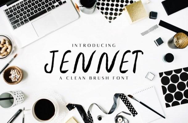 Jennet – Free Brush Script Font Family