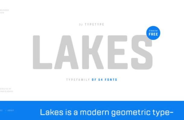 TT Lakes Free Font Family