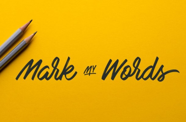 Mark My Words Free Font