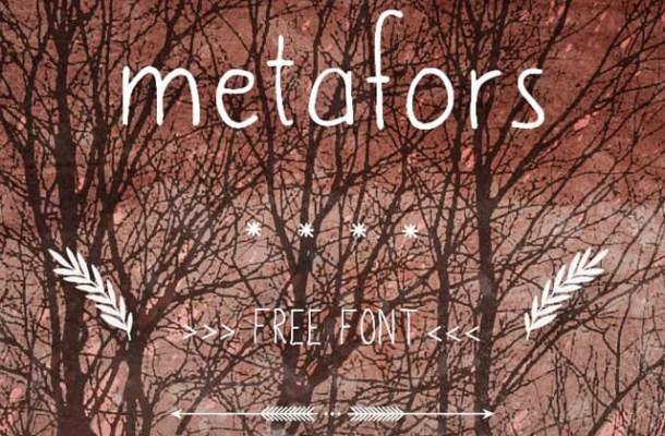 Metafors Free Handwritten Font