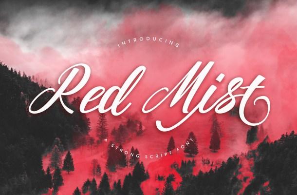 Red Mist Free Script Font