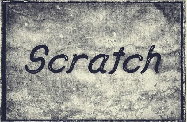 Scratch Free Script Font