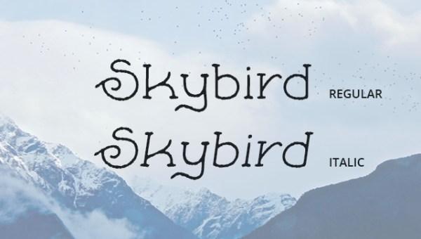 Skybird Rough Free Font