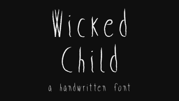 Wicked Child Free Handwritten Font