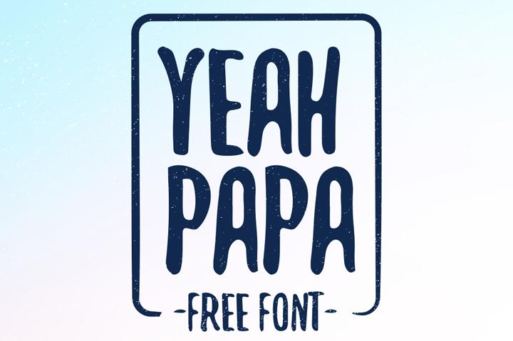 yeah papa typeface