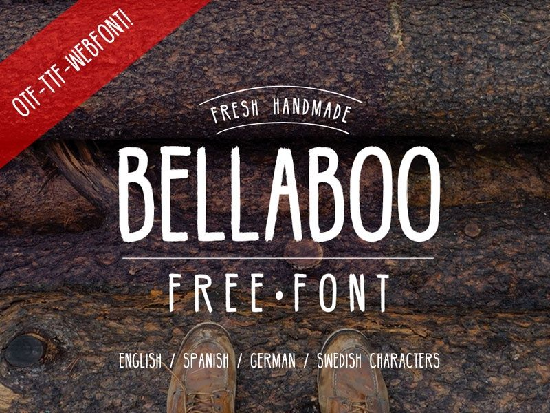 Bellaboo Handmade Font - Free Fonts