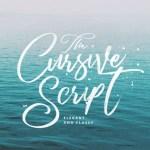 Cursive Script Font Free