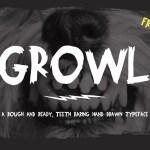 Growl Hand Drawn Font