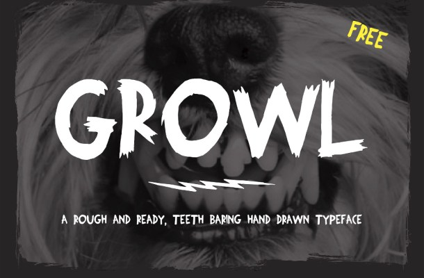 Growl Hand Drawn Font
