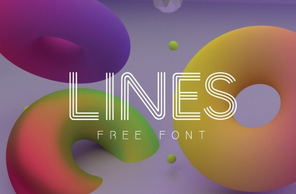 LINES Font Free