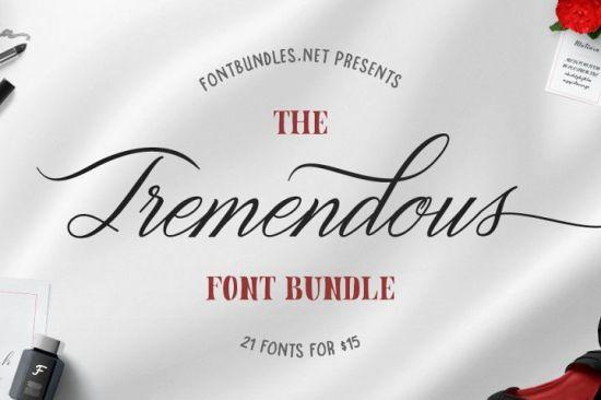 The-Tremendous-Font-Bundle