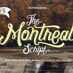 The Montreal Script Font