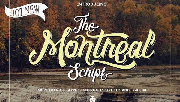 The Montreal Script Font