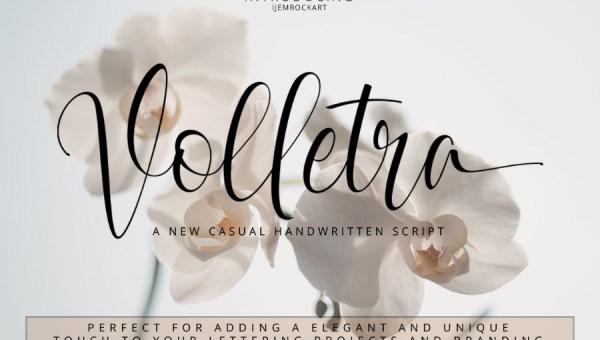 Volletra Script Font Free