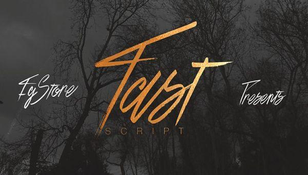Fast Script Font