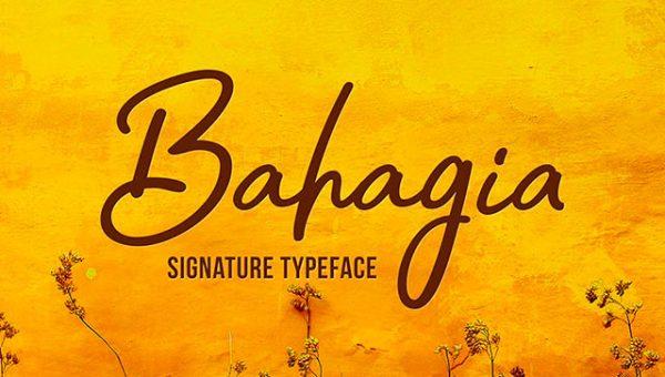 Bahagia Signature Font