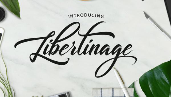 Libertinage Script Font Free