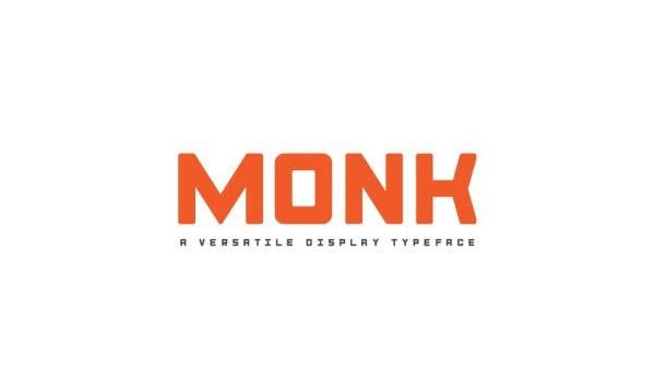 Monk Display Font
