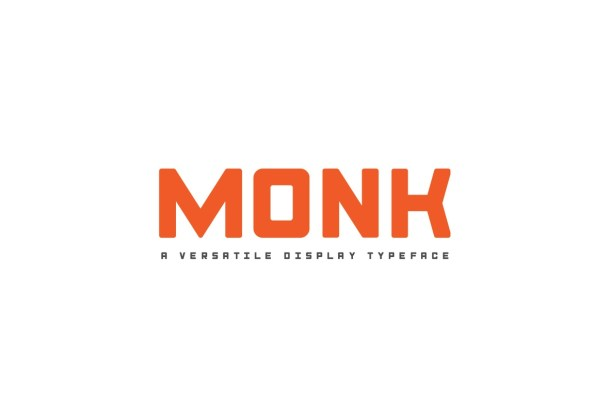 Monk Display Font